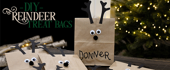DIY Reindeer Treat Bag Kid's Craft