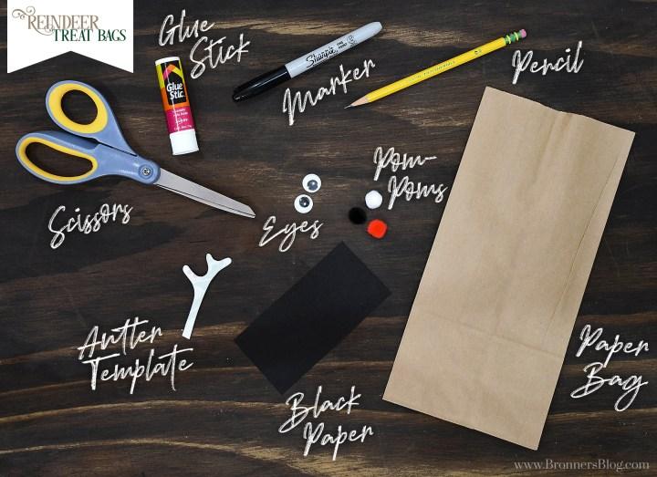 DIY Reindeer Treat Bags Craft Supplies
