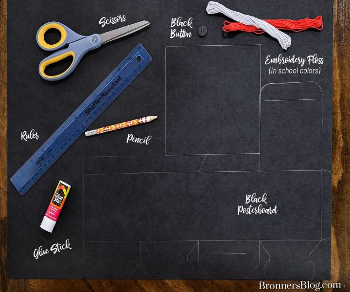 DIY Graduation Cap Gift Box Supplies