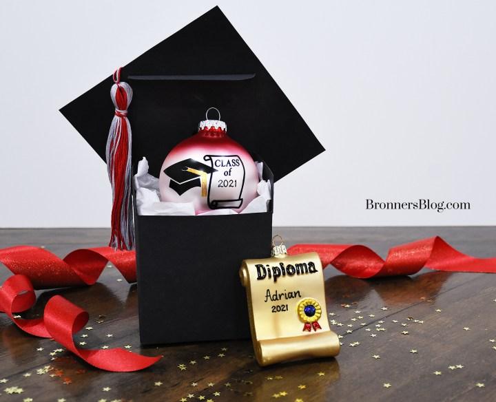 Graduation Ornaments And DIY Graduation Cap Gift Box from Bronner's