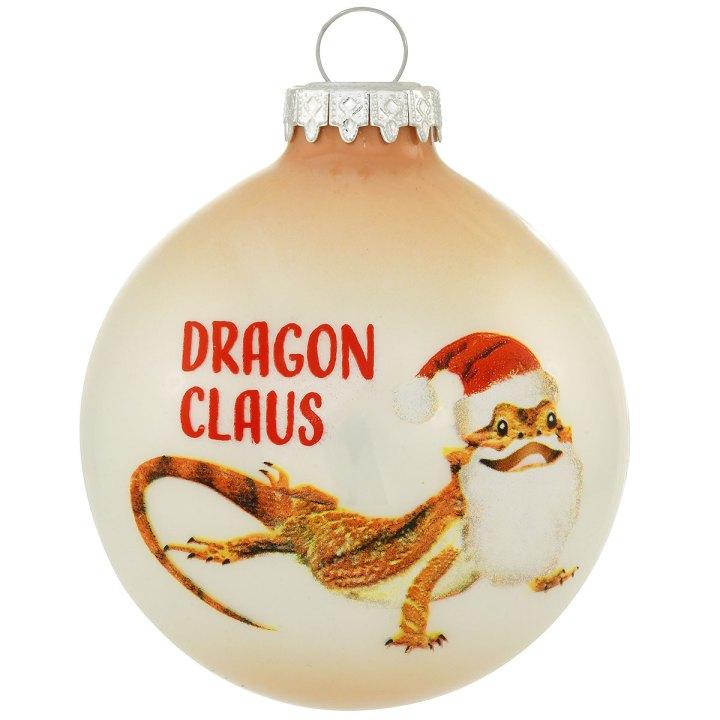 Bearded Dragon Claus Ornament