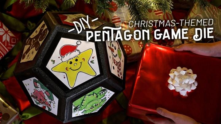 DIY Christmas-Themed Pentagon Die
