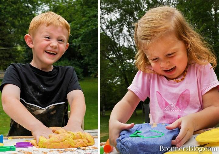 Homemade playdough for playtime fun