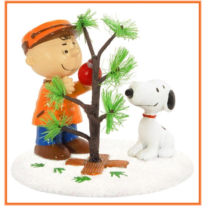 The Perfect Tree Peanuts figurine by Department 56 for Christmas movie quiz