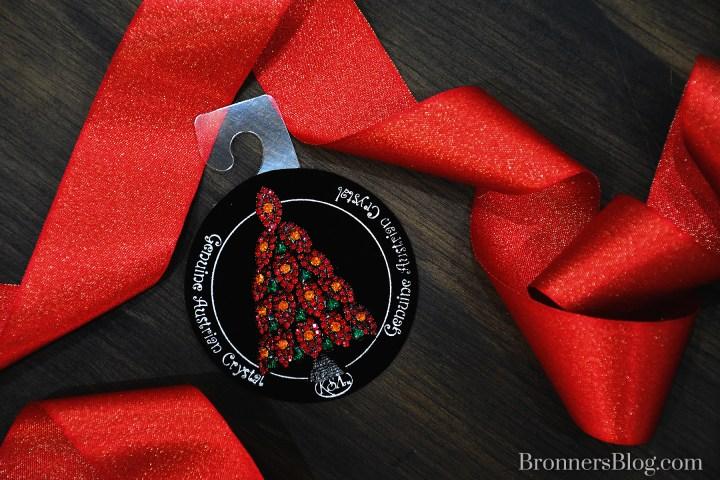 Austrian Crystal Poinsettia Jewel Pin