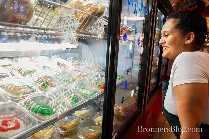 Looking at sugar cookies in cooler
