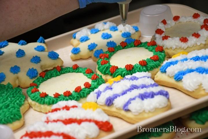 Decorating Bronner's Signature Sugar Cookies