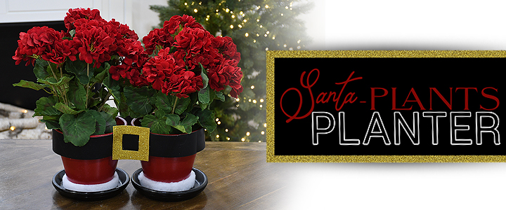 Santa Pants Flower Pots Planter Craft