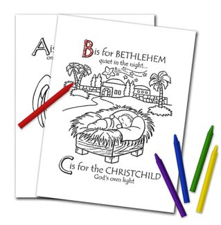Bronner's Christmas ABCs Coloring Book Pages