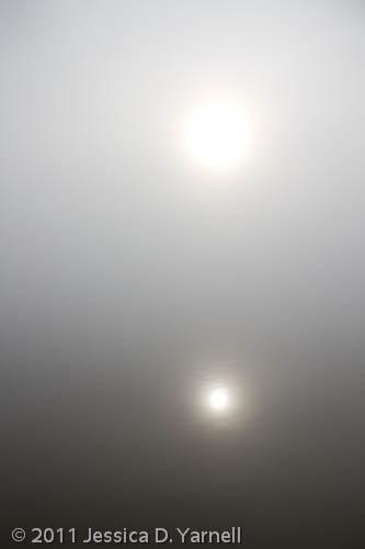 Foggy Sunrise over Lake Hancock