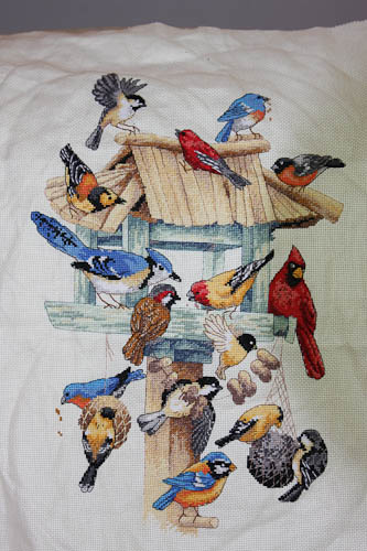 Bird Feeder Cross-stitch