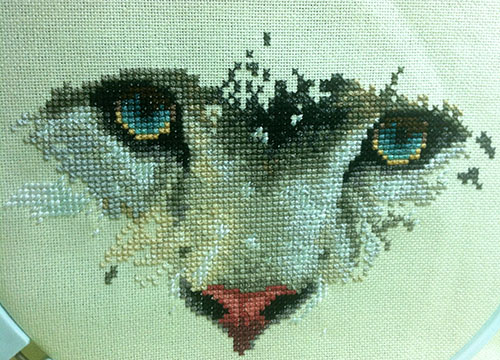 Snow Leopard Cross-stitch