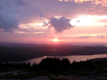 Sunset over Eagle Lake