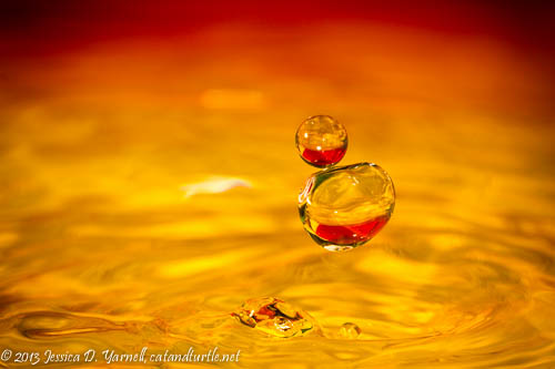 Balls of Water - colorful water droplets