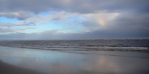 Rainbow over the Waves