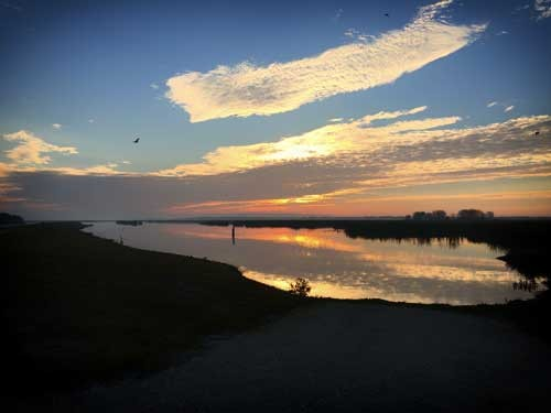 Sunrise at the Lake Hancock Outfall Wetlands