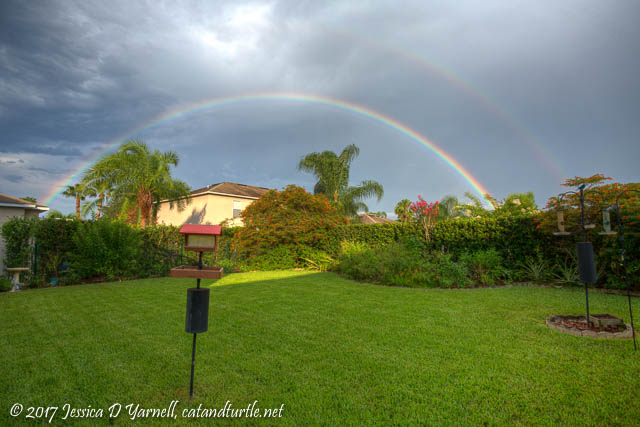 Backyard Rainbow HDR