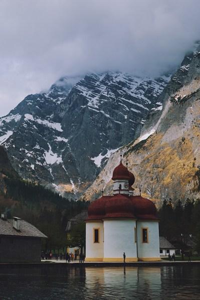 St. Bartholomä; Watzmann; Königsee; Berchtesgaden; Bayern; Deutschland