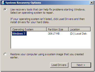 Startup Repair - Windows 7