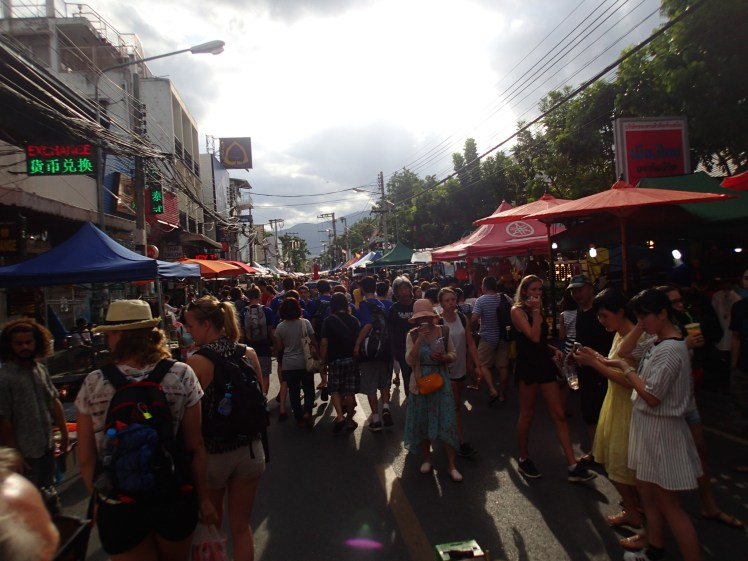 Sunday walking street market