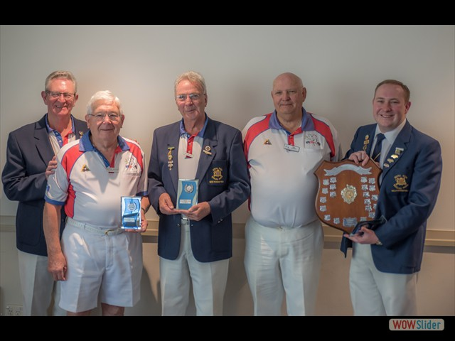 Max Walters, Norm Jackson, Keith Robinson, Mal Horner and David Wilson (Fours)