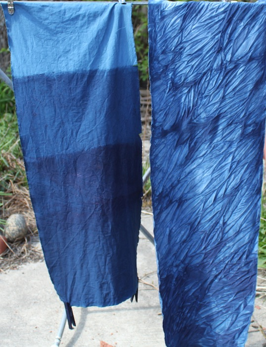 Indigo gradient fabric