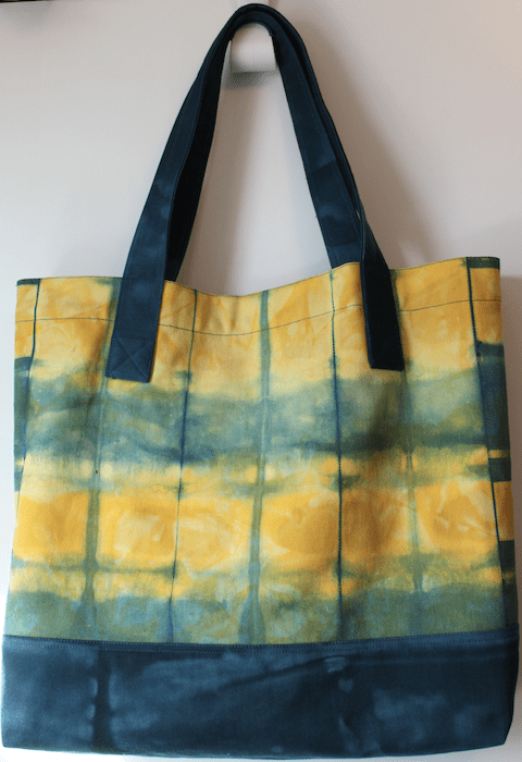 Itajime Shibori Canvas bag verso