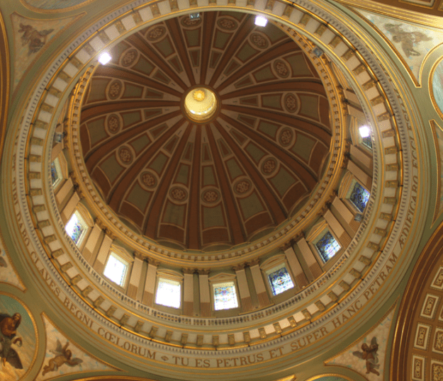 Cupola design of Mary, Queen of the World Cathedral, Montréal