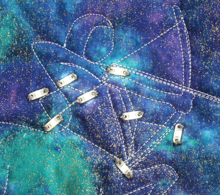 Sagittarius constellation quilt detail of lights