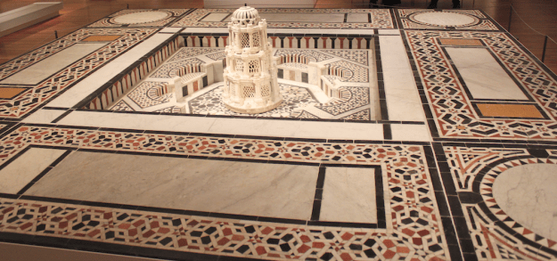 Fountain Syria, 16th century and later Marble and sandstone mosaic