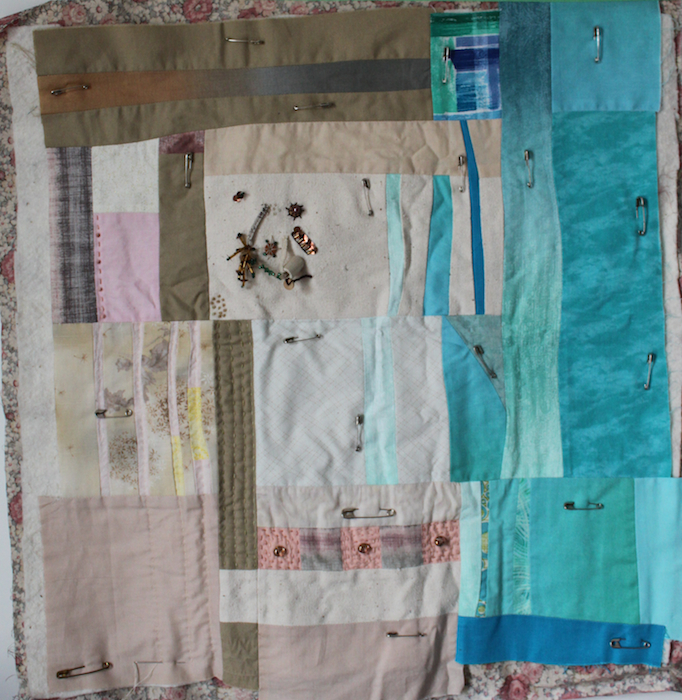 Slow stitch art quilt