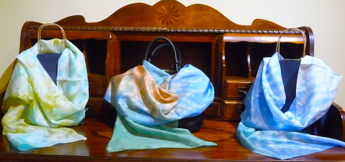 Doris Lovadina-Lee hand dyed scarves