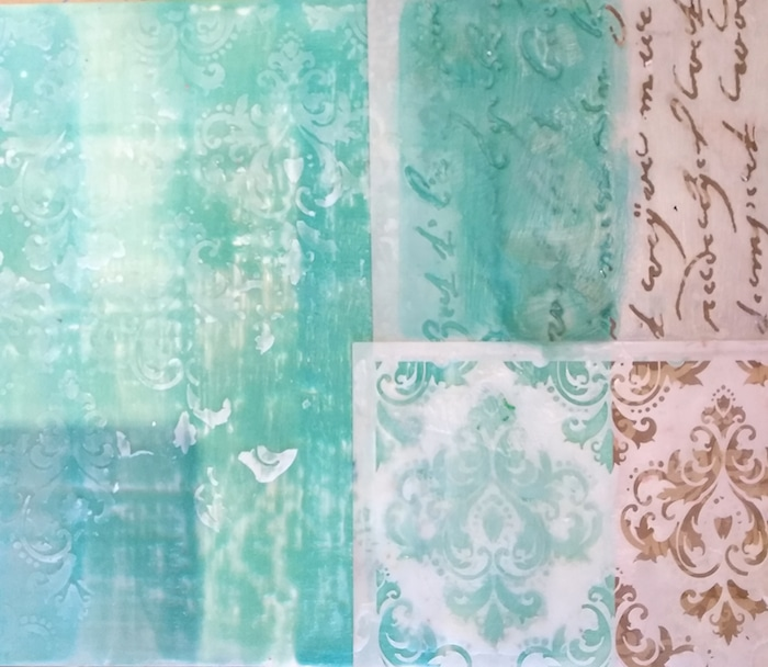 texture stencils turquoise encaustic wax doris lovadina-lee toronto artist distillery district