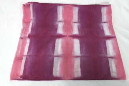 hand dyed in toronto ontario canada locally made cotton and silk woman's scarf itajime shibori japanese resist luxury gift