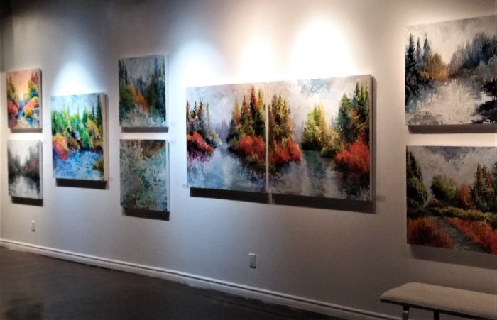 encaustic paintings in wax & wane exhibit toronto twist gallery 2018