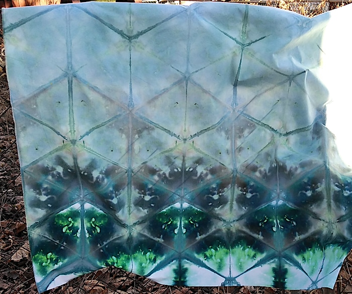 shibori hand dyed with snow cotton quilting cotton toronto ontario small batch for sale
