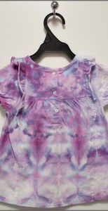 back of child's ice dyed top by dorislovadinalee