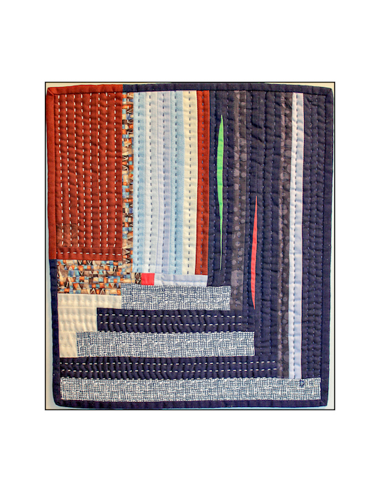 In Order log cabin variation for TMQG mini quilt challenge