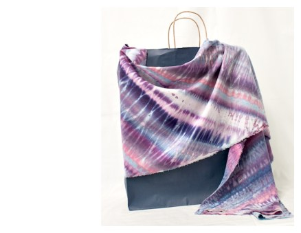 handdyed rayon and linen scarf by doris lovadina-lee toronto ontario