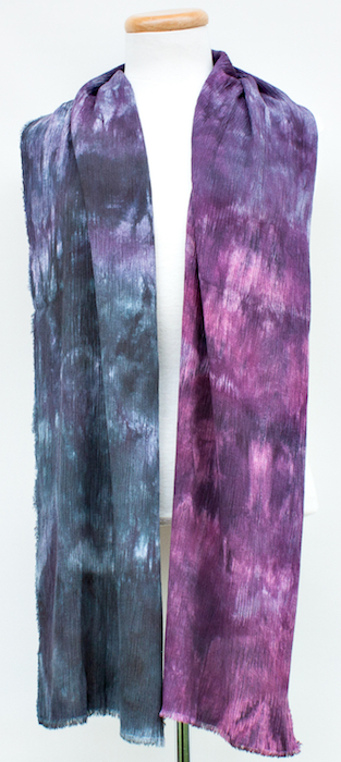 crinkle crepe parfait dyed scarf and shawl