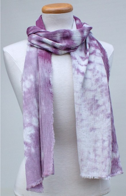nui shibori grape scarf for travelling by doris lovadina-lee