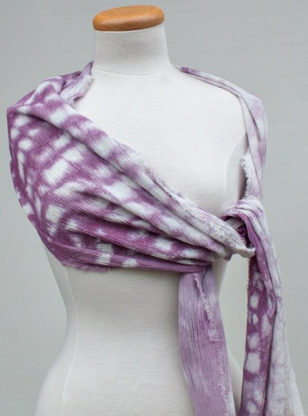 women's travel scarf purple crinkle