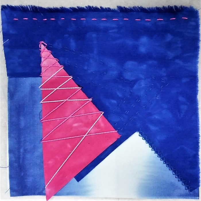 Day 9 stitch meditation of the 100 day stitch meditation challenge by toronto artist doris lovadina-lee canada