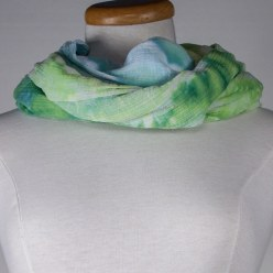 cotton gauze snow dyed in yellow, green in toronto canada gift ideas for women
