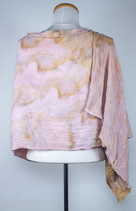 back view soft linen scarf snow dyed toronto canada