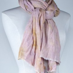 softly tied linen and rayon travel scarf gift for women