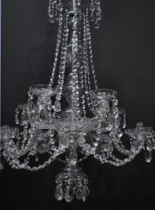 Pair Of 19th Century French Cut Glass Chandeliers