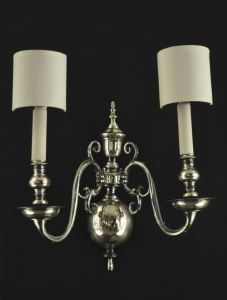 English Silver Wall Lights