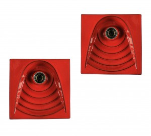Red Ceramic Wall Lights