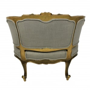Gilt Wood Dogs Seat
